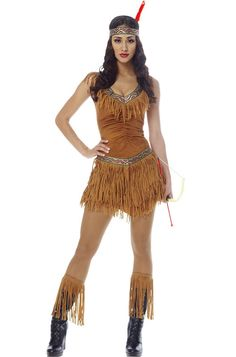 Brand New Native American Indian Maiden Pocahontas Adult Costume | eBay