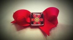 Red Loops with Flower Embellishment Hair Clip by AmalieBowtique, $2.99