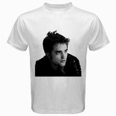 ROBERT PATTINSON white TShirt Size S,M, L, XL, 2XL, 3XL, 4XL and 5XL | butikonline83 - Clothing on ArtFire $18