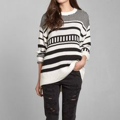 Womens Stripe Knit Sweater | Womens Sweaters | Abercrombie.com