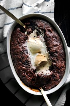 Saucy marriage pudding.