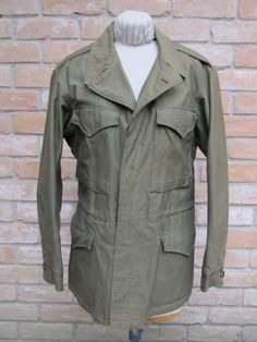 Dated-1944-WWII-US-Army-M-1943-Field-Jacket-Size-38R-Good-Condition
