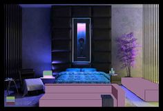 Analogous on pinterest for Electric blue bedroom ideas