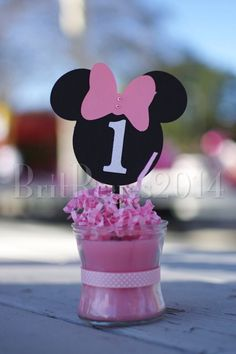 1st birthday Minnie Mouse themed pink Mikey Mouse, Minnie Mouse Theme, Disney Characters, Birthday, Pink, Crates, Princess, Birthdays, Pink Hair