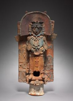 Incensario (Incense Burner) Support, 600-900 Mesoamerica, Maya, Palenque region, Classic Period (250-900) or modern