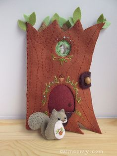 Squirrel's Happy Tree Home | a new felt sewing pattern PDF a… | Flickr