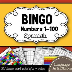 Spanish Bingo Numbers 1-100