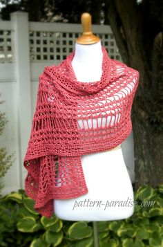 X Stitch Summer Wrap By Maria Bittner - Free Crochet Pattern - (ravelry)