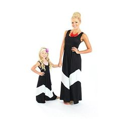 Unique Baby Mommy and Me Chevron Maxi Dress