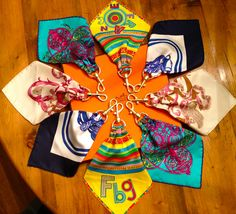 hermes scarf keychain available on etsy!  name droppers designs