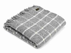 CHECKED WOOL BLANKET - GREY AND WHITE TWEEDMILL THROW A combination of modern checks and classic country styles which sit well in many styles of