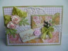 Gingham roses and papers from The Gecko Galz
