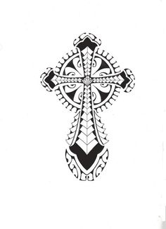 Tribal Polynesian Cross by smekeal00.deviantart.com on @DeviantArt