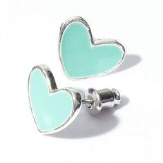 Princess Vera Wang Silver Tone Heart Button Stud Earrings, $7.20