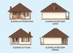 DOM.PL™ - Projekt domu PT SAN ANTONIO dom letniskowy CE - DOM PT1-93 - gotowy koszt budowy San Antonio, Small House Design, Gazebo, Outdoor Structures, House Styles, Fasion, Home Decor, Houses, Projects
