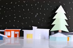 mod holiday neighborhood printable