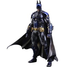 28 CM Movie Figure Playarts KAI Batman Arkham Knight Batman Blue Limited Ver. PVC Action Figure Collectible Model Toy for Kids