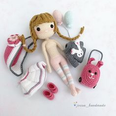 Chloe Go Holiday with Cute Luggage Crochet Doll Pattern (Amigurumi Doll Pattern / PDF Crochet Doll Pattern / English Pattern) – Crochet Dolls Crochet Gratis, Crochet Doll Pattern, Crochet Patterns Amigurumi, Cute Crochet, Amigurumi Doll, Crochet Dolls, Craft Patterns, Doll Patterns, Holiday Crochet