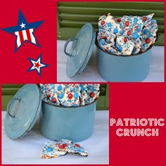 4th of July *Food* - Patriotic Crunch (recipe  tutorial)