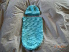 Preemie Cuddler and Hat Pattern; Crochet; Help the babies of Long Island  ~~