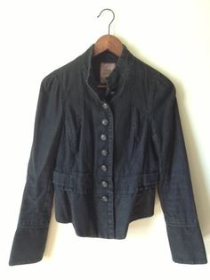 FREE PEOPLE light black distressed buttondown by RagsOldIron, $64.00