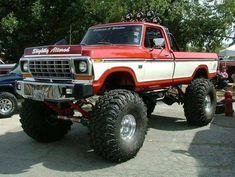 Big Ford Trucks, 1979 Ford Truck, Classic Ford Trucks, Old Pickup Trucks, Ford 4x4, Jeep Truck, 4x4 Trucks, Lifted Trucks, Cool Trucks