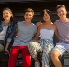 Lilan Bowden, Asher Angel, Peyton Elizabeth Lee & Luke Mullen Peyton Elizabeth Lee, Andi Mack Cast, Cameron Boys, Buffy, Teen Series, Just Jared Jr, Disney Channel Stars, Love U Forever, Dance Choreography Videos