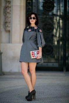 Street look fashion week Paris : romantique