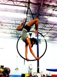 Hoop handstand