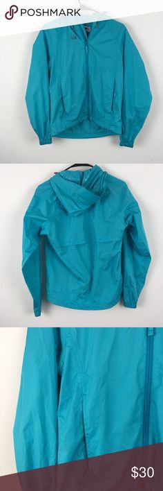 """Alpine Design / Lightweight Rain Jacket Bright and bold blue rain jacket. Vented back. Hooded. Excellent used condition, no flaws, non-smoking home.  Measurements laid flat - Pit to pit 18"""" - Length 21.5""""  No trades, please :) O12 Alpine Design Jackets & Coats"""