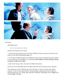 Han, Leia, arguing, and politeness.