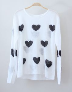 Hearts All Over Knit by Love Junkee on Storenvy