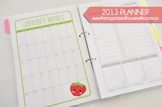 {Printable} The 2013 Planner. Can I make something like this?