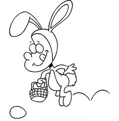 Hopping Bunny Coloring Pages