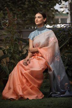 How gorgeous is our peach ombré Saree #keyahdiaries #bangalore #sariswag #sareeblouse #indianbride #fashion #womensfashion #sareeinspiration #style #indianwedding #blousedesigns #indiandesigner #indianhandloom #sale #indiantextiles #indianblogger #saree #sareeblouse #blouses #indian #keyah #indianwedding #indianfashion #indianwedding