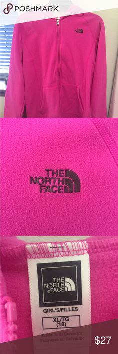 Girls Fleece NorthFace Jacket This jacket was only worn once and is in brand new condition! It's so soft and cozy and would be super cute for school and good for the upcoming cold weather! The North Face Jackets & Coats