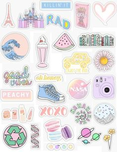 """Stickers - handy -Pastel Stickers - handy - """"Aesthetic Stickers Stickers by lordwatermelon Homemade Stickers, Diy Stickers, Printable Stickers, Planner Stickers, Sticker Ideas, Tumblr Stickers, Phone Stickers, Kawaii Stickers, Wallpapers Tumblr"""