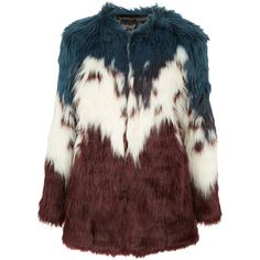 Multi Tiered Faux Fur Coat ($190) ❤ liked on Polyvore