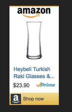 Heybeli Turkish Raki Glasses & Lemonade Tumblers (Set of 6). This common drink is drank in all of #kivançtatlitug series & movies  #licorice #liquor #tradition #White #water #ice