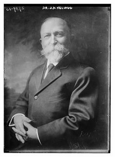Prohibitionist and Vegetarian, Dr. John Harvey Kellogg was the man who built the Battle Creek Sanitarium, and presided there for decades. His brother, Will Keith Kellogg, started the breakfast food company, Kellogg's of Battle Creek