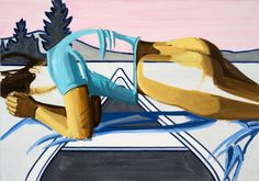 Plank.  David Salle.      This piece is part of an ongoing effort to keep two things in mind at once.