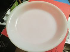 VTG 1950-60s Fire King Pie Plate Restaurant 9 by HolySerendipity