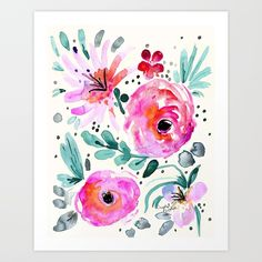 Buy Colby Floral Art Print by crystalwalen. Worldwide shipping available at Society6.com. Just one of millions of high quality products available.