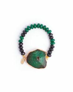Green Agate Bracelet.
