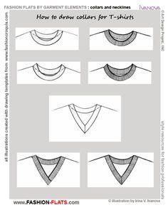 Crew neck T shirt collar