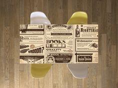 """Hier kommt die morgendliche Zeitung direkt auf den Tisch! Mit dem Design """"Vintage Newspaper"""" #designfolie #tischfolie #newspaper #vintage #retro"""