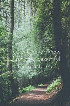 You will never know Just how beautiful You are to me  - ed sheeran