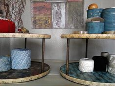 DIY a Lazy Susan to use in your sewing room!