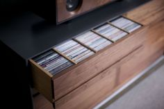 These are gorgeous high-quality cabinets. Custom sizes available Symbol Audio | LP STORAGE CABINET5
