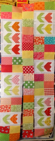 44th Street Fabric: A Tulip Quilt In Progress...
